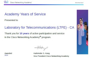 Academy 10 years certificate